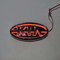 Wholesale Rio 3d - Car Styling 11.9cm*6.2cm 5D Rear Badge Bulb Emblem Logo led Light Sticker Lamp For KIA K5 Sorento Soul Forte Cerato Sportage RIO