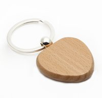 Wholesale personalize keychains for sale - Group buy 200X WOOD HEART KEY CHAIN Personalized Engraved Cheaper keychains Drop Shipping
