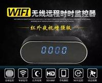 Wholesale Wireless Baby Camera Recorder - IR Night version mini Clock camera hidden HD 1080P Camera WiFi remote alarm clock PI Camera home security video recorder baby monitor