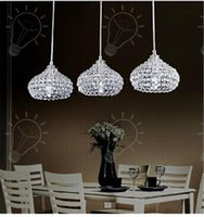 Wholesale Drop Pendant Lighting - 2017 Modern Chandeliers LED Crystal Ball Pendant Lamp K9 Crystal Ceiling Lamp Crystal Stair Light Drop Light Chandelier Lights Hanging Ligh