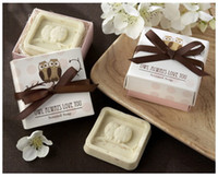 Wholesale Baby Soap Favors - Wholesale DHL free shipping Artistic Scented Owl Soaps for Wedding Favors Gift Baby Shower Soap Decorative Hand Soaps