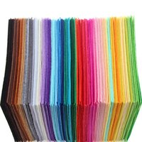 Wholesale Diy Felt Fabric - 40pcs 15x15cm Non Woven Felt Fabric 1mm Thickness Polyester Cloth Felts DIY Bundle For Sewing Dolls Crafts Free shipping
