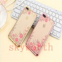 Wholesale Secret Case Iphone - For Samsung galaxy Note 8 S8 Plus S7 edge iphone X 8 7 6S Plus TPU cover Plating case Secret garden bling diamond