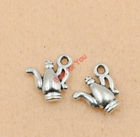 Wholesale teapot charms for sale - Group buy Teapot Charms Pendant Antique Silver tone Jewelry Diy Jewelry Making Handmade Craft x15mm jewelry making