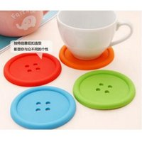 Wholesale chinese coasters for sale - Group buy BY DHL Vorkin X Silicone Button cup mat placemat Coffee Placemat Button Coaster Cup Mug Glass Beverage Holder Pad Mat