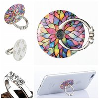 Wholesale Cute Cell Phone Stands - Finger Diamond Ring Cute Cartoon Metal Mobile Phone Stand General Finger Ring Mount Holder Bracket For IPhone Cell Phone Universal OPP BAG