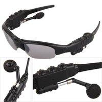сотовый телефон bluetooth солнцезащитные очки оптовых-Bluetooth-гарнитура Sunglasses Handsfree для мобильного телефона КПК