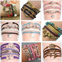 Wholesale Stainless Steel Infinity Ring - Infinity bracelets Jewelry fashion Mixed Lots Infinity Charm Bracelets Silver lots Style pick for fashion people