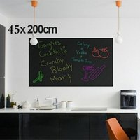 Wholesale 45CMx200CM Wall Stickers Blackboard Sticker Children Drawing Toy Vinyl Chalkboard Decor Mural Decals Art Chalkboard High Quality