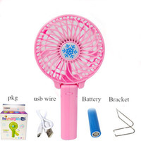 Wholesale 5 Colors Degree Adjustable Portable Folding USB Charging Fans Hand Held Mini Battery Cooling Fan cm