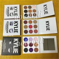 Wholesale Eyeshadow Palette Style - 3 Style Kylie Jenner Eyeshadow Kyshadow Pressed Powder Eye Shadow the Bronze Palette+Burgundy + Purple Palette Cosmetics Kit 9colors