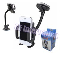 Wholesale car cup holder mount gps - Universal 360 Degree Rotatable flexional Suction Cup Swivel Mount Car Windshield Holder Stand Cradle For Cell Phone iPhone iPad PDA GPS