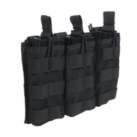 Wholesale M4 Mag Pouches - Loglife Tactical Magazine Pouch Holds 5.56 M4 M16 Mag Pouch Triple Open Top Holster 1000d Stacker with Bungee System