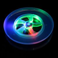 Wholesale Light Up Frisbee Wholesale - Luminous UFO Flash Light Up Toys Colorful Frisbee Rotating Flywheel Led Toy