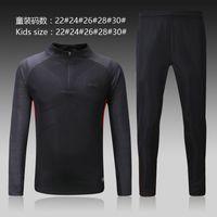 Wholesale Men Wearing Boys Clothes - Perfect 17 18 black barc kids tracksuit long sleeve suit pants boy Training suit football training clothes sports wear Sweater