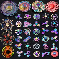 Wholesale Copper Spinners - Factory Promotion!!! 120 Types Fidget Hand Spinner LED Bluetooth Spinners Metal Alloy Copper King Glory Finger Spinn etc Free Shipping