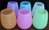 Wholesale Decoration Glass - New Arrive Colorful Fashion 2015 Unbreakable clear Rubber Wine Glass silicone wine glass silicone wine cup wine glasses