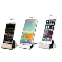 Universal Handy Dock Ladegerät Micro USB Typ C Docking Station Station Cradle Lade Sync Dock für iPhone 5 s 6 6 s 7 Plus