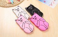 Custodia 3D Cute Cat per iPhone 6 6S 6s più Soft Ripndipp Animali Custodia in silicone Kitten Perfect Cover Capa per iPhone 5 5s