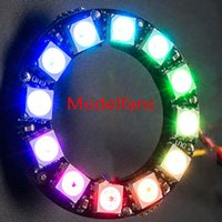Wholesale Rgb Led Driver Arduino - RGB LED Ring 12 Bit WS2812 5050 RGB LED + Integrated Driver Module For Arduino