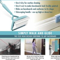 Wholesale Telescopic Cover - Baseboard Buddy Simply Glide Extendable Microfiber Cleaning Product Fiber Cleansing Brush Telescopic Lazy Mop
