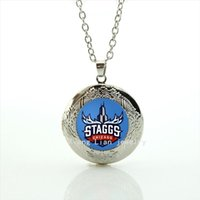 Wholesale Stylish Jewelry For Women - New fashionable stylish women jewelry locket necklace Chicago staggs logo picture accessory for women NF012