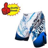 "Wholesale Hot Mma Fights - HOT--MMA short ""TATSU KING"" Fight short--ICE BLUE"