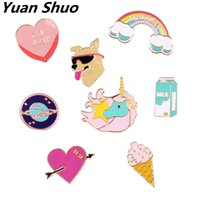 Wholesale Anchor Manufacturers - Fun and colorful badges The dog dog rocket skateboard brooch Japan South Korea style pin Brooch wholesale manufacturers selling