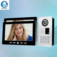 10 '' TFT Wired Video Doorphone Intercom System 2 Monitores + IP54 Metal impermeável IR Outdoor Camera Doorbell Fingerprint / Password