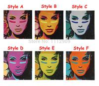 belas pinturas modernas venda por atacado-Pintados à mão arte da parede Da Lona fotos Modern Movie Pop art pinturas a óleo para sala de estar Linda menina