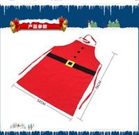 Wholesale Xmas Aprons - Christmas Kitchen Christmas Apron Cook Apron Free Size Restaurant Supermacket Christmas Uniform Xmas Decor Supplies tools