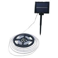 12 volt led streifen weiß großhandel-Edison2011 Neue Solar Power Led Streifen Licht SMD2835 5 Mt 100 leds Wasserdichte Streifen Solar String Licht