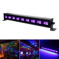 Wholesale Lighting For Stage Decoration - High Power 9LEDx3W Led Bar Black light UV Purple LED Wall Washer Lamp Landscape Wash Wall Lights for Outdoor Indoor Decoration