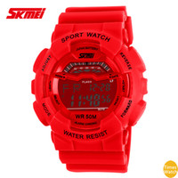 2016 SKMEI F 1012 Rap Hip Hop Montres Running shock skateboard Shockproof imperméable multifonctions montre sport mode street Surf Watch