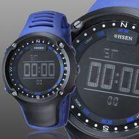 Wholesale Ohsen Waterproof Sports Men - New Ohsen Silicone Men's Big Round Dial Casual Sport Waterproof Outdoor Men Wrist Watch Digital Quartz Watches