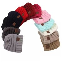 Wholesale Warm Baby Beanie Crochet - Baby Hats CC Trendy Beanie Crochet Fashion Beanies Outdoor Hat Winter Newborn Beanie Children Wool Knitted Caps Warm Beanie