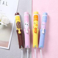 Wholesale Hair Dryer Mini Pink - Sally Chicken Hair Straightener Kumamoto Bear Mini Change Style Tools Portable Ceramics Plate Lovely Wet and Dry Dual Use