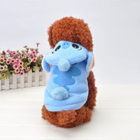 Wholesale Costume Shop Free Shipping - Cartoon Stitch Dog Winter Clothes Puppy Cat Halloween Costumes Apparel Online Shop Free Shipping