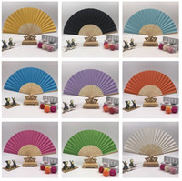 Wholesale Fan Blank Paper - High quality High quality 7 inch folding blank paper painting performances DIY painting fan advertising fan ZS010 mix order as your needs
