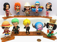 Wholesale Robin Hot Toys - 10pcs set New hot sale anime figure PVC toys one piece luffy Zoro Nami Usopp Sanji FRANKY Chopper Robin 11CM gift for children