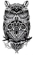 dessins de peinture pour le corps achat en gros de-Grand hibou bras tatouages temporaires pâtisserie 3D noir faux autocollants de tatouage transfert hommes cool conceptions imperméables peinture de l'art corporel