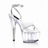 Wholesale Sandals For Models - Super high heels 15 cm high nightclub sexy sandals crystal Stage model fashion runways for women's shoes