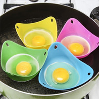 ingrosso baccelli di uova in camicia-Silicone Egg Bracconiere Cook Poach Pods Uovo Stampo Ciotola Forma Uovo Anelli Silicone Pancake Cucina strumenti di cottura gadget