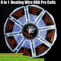 Wholesale demon killer fused clapton wire resale online - Demon Killer in1 Coils Alien Fused Clapton Flat Mix Twisted Hive Quad Tiger Heating Resistance Wire RDA Atomizers pre Rebuildable Coil DHL