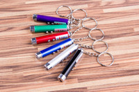 Wholesale Laser Pens Wholesale - 400pcs RA 2 in 1 Red Laser Pointer Pen + Led white Light Torch Keychain DHL Fedex Free Shipping