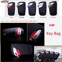 Wholesale Bmw Leather Bag - Best Match 1pcs Fashion car key Bags leather Metal auto Key Bags Auto Key Holder For F20 F30 F10 F12 F25 F02 F07 car styling