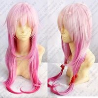 Wholesale Inori Yuzuriha Cosplay - 100% Hot Sell Brazil dark-haired woman wig cosplay Heat Resistant synthetic>>>>>Hot! Quality wig New Guilty Crown INORI YUZURIHA purple mix