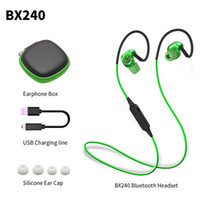 Wholesale Headset Stereo Headphones - BX240 Wireless Bluetooth Earphone IPX5 Waterproof Sport Music Headset Stereo Headphone With Mic For iPhone Samsung HTC Huawei