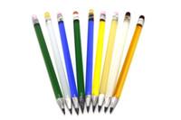 lápis dabber venda por atacado-Novo Lápis Dabbers Plataformas Petrolíferas De Vidro Colorido Bong Dab Ferramenta De Vidro Dabber Para Honeybird Bongs Tubulações De Água Tubo De Vidro