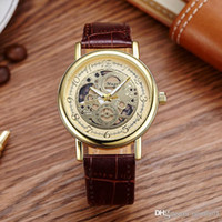 Wholesale Designer Watches For Women Wholesale - gold mens watch Silver & Rose Gold Leather Band designer watches Fashion Quartz watch gold women Color watches for mens